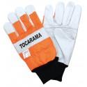 Chainsaw gloves in Orange Class 2