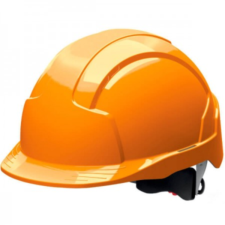 Helmet EVOLITE orange not ventilated wheel ratchet