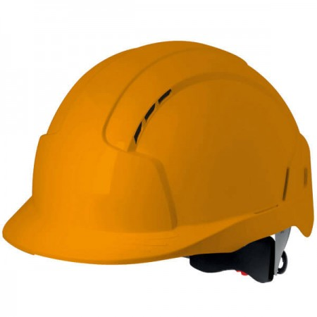 Casco EVOLITE naranja ventilado con rueda