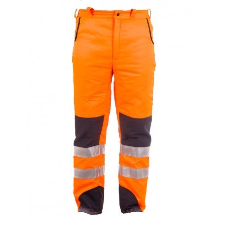 Pantalón de motosierra naranja / azul AV Clase 2 Categoría lll