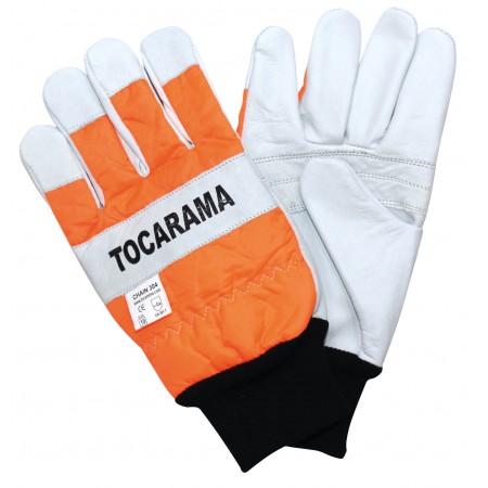 Chainsaw gloves in Orange Class 1