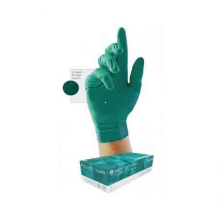 Guante desechable de nitrilo verde