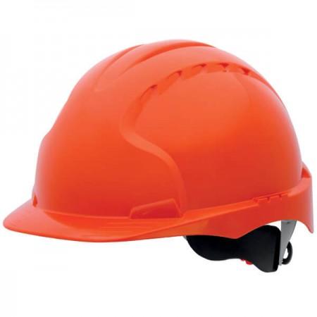 Casco EVO3 naranja no ventilado con rueda