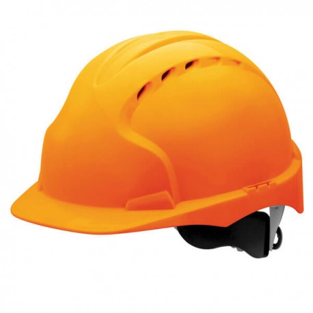 Casco EVO3 naranja ventilado con rueda