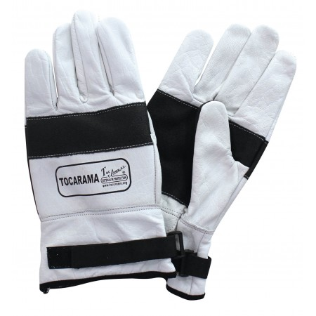 Chainsaw gloves in White Class 1