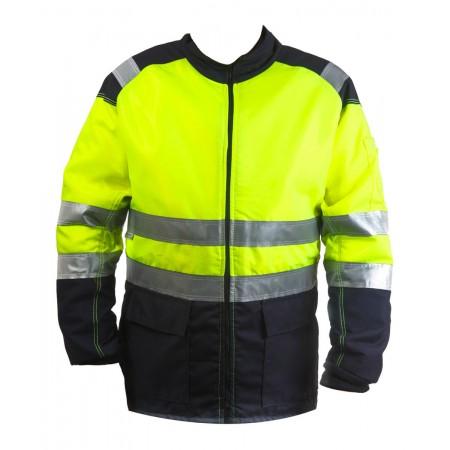 Cazadora de motosierra amarillo / azul AV Clase 2