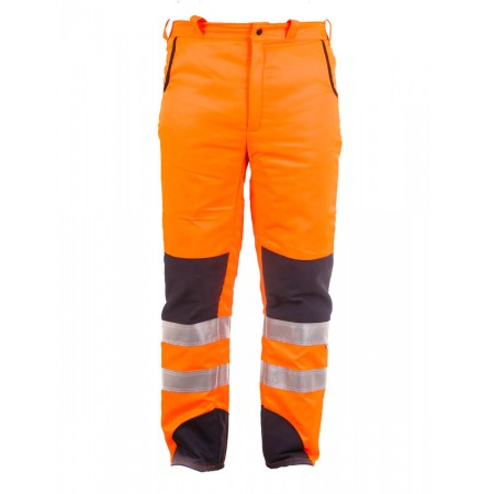 Pantalón de motosierra Alta Visibilidad Naranja Tipo B Clase 2 Categoría III