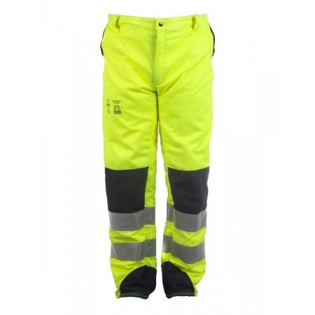 Pantalón de motosierra Alta Visibilidad Amarillo Tipo B Clase 2 Categoría III