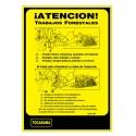 Cartel Aviso Trabajos Forestales