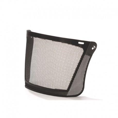 Visor malla metálica negra protección facial
